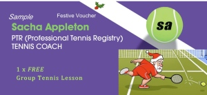 Have you thought of giving someone a voucher for tennis lessons?